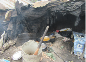 Food sold in unhygienic environment in a slum in Nairobi